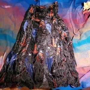 Free people burnout velvet maxi skirt